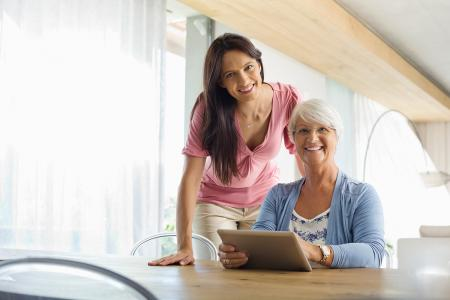A caregiver's commitment: Technology for the aging