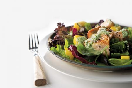 Light and elegant salmon salad