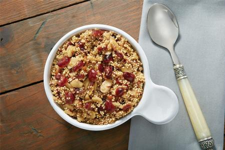 Quinoa with toasted almonds and cranberries