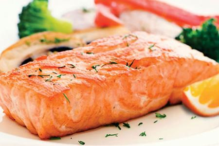 Honey orange marinated salmon
