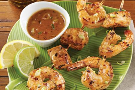 Chicken and shrimp satay