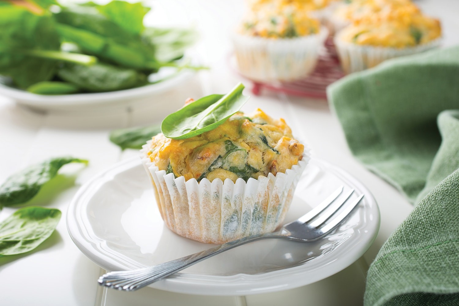 Sweet potato, feta and spinach muffins