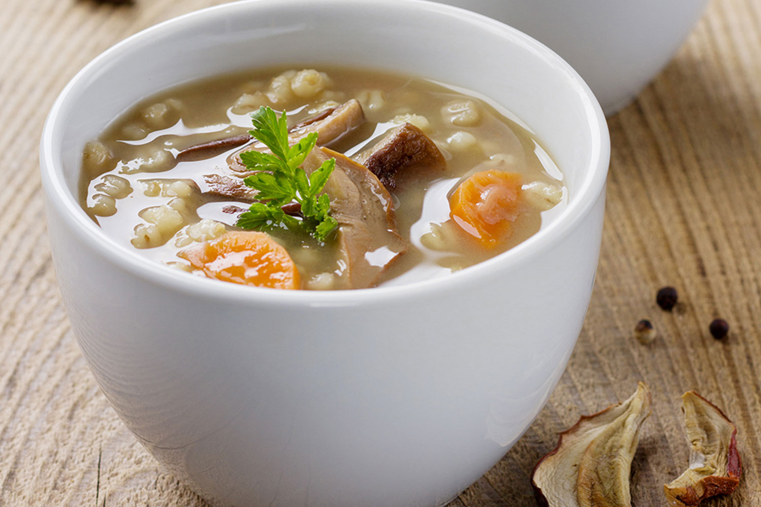 Mushroom and barley soup - Healthy Living Made Simple