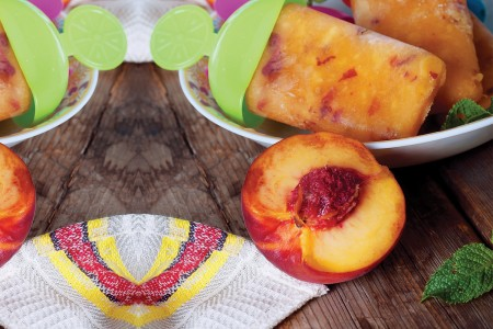 Frozen Peach Pops