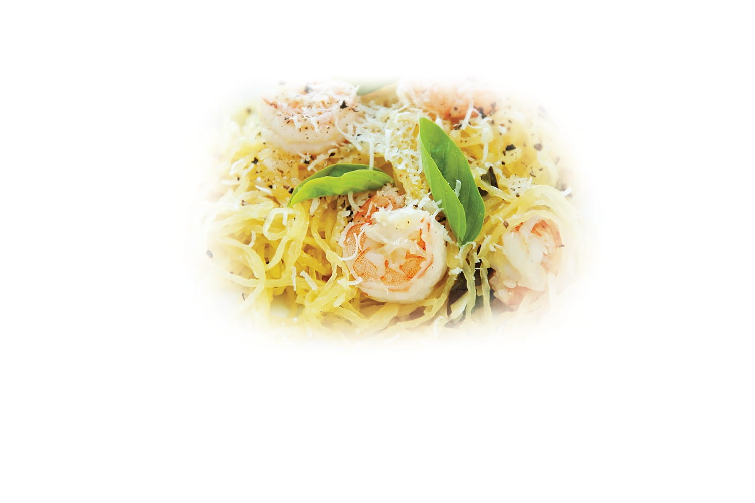 Roasted shrimp and spaghetti squash