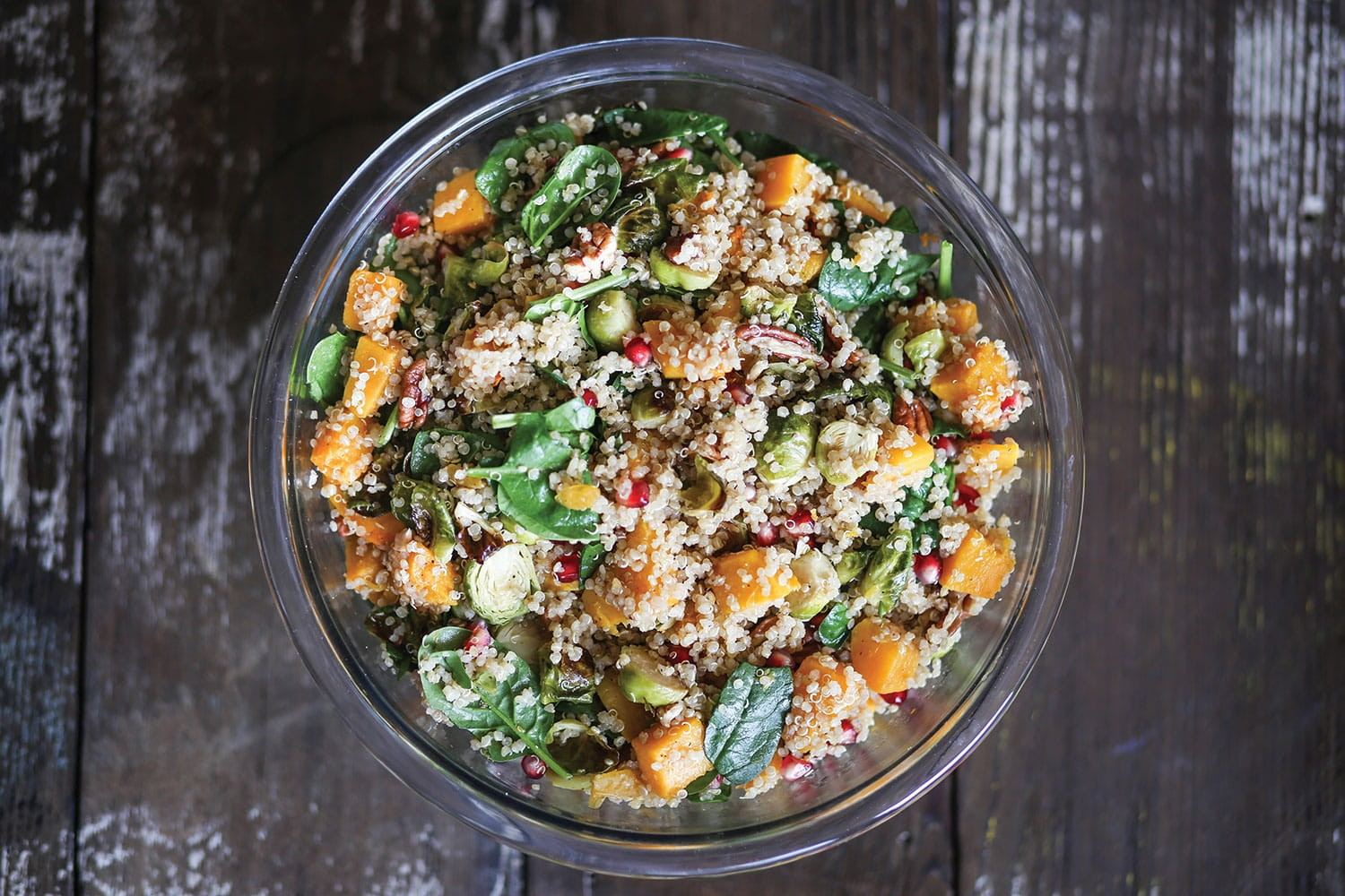Brussels sprouts and quinoa winter mix